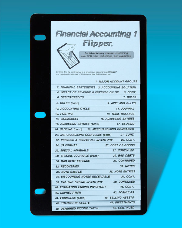 Financial Accounting 1 FlipperGuide